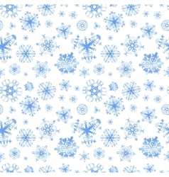 Different snowflakes on white winter background vector image