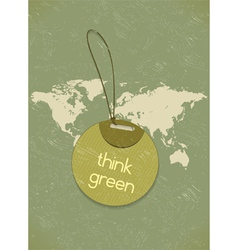 eco friendly shopping tag vector image