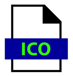File name extension ico type vector
