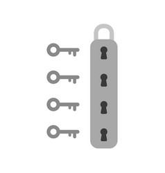 flat design style concept of padlock icon with vector image vector image