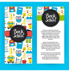 Flyer Template Back to School vector image vector image