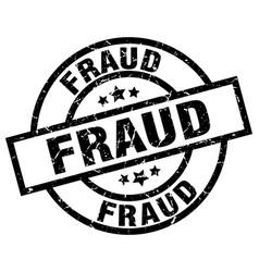 fraud round grunge black stamp vector image vector image