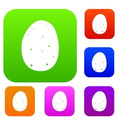fresh potato set collection vector image vector image