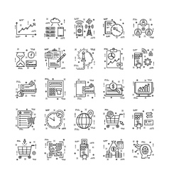 Line Icons With Detail 14 vector image