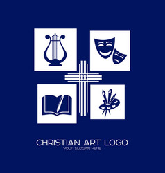 Logo of the christian creative team vector