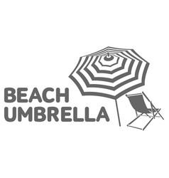 Logo template with beach umbrella and sun bathing vector