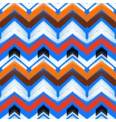 Multicolor hand drawn pattern zigzag vector image vector image