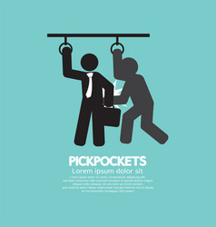 Pickpocketer steal things from bag vector