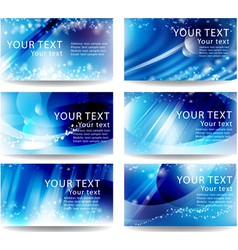 Set cards with a blue background vector image vector image