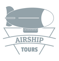Sky dirigible logo simple gray style vector