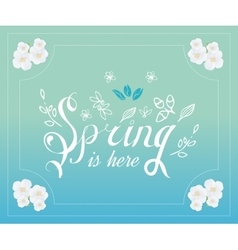 Spring typographic poster and logo vector