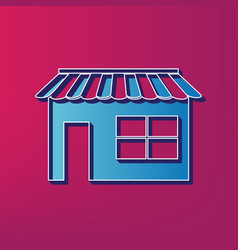 Store sign blue 3d printed vector