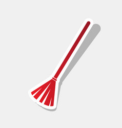 Sweeping broom sign new year reddish icon vector