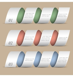 Three modern numbered ribbons banners vector image vector image