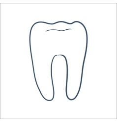Tooth isolated on white vector image vector image
