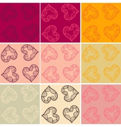 Valentine cards seamless vector image vector image