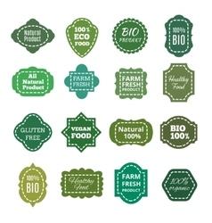 Vintage natural organic bio product green vector image vector image