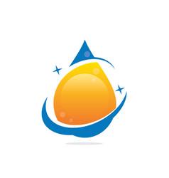 water drop bio ecology logo image vector image vector image