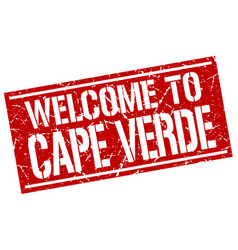 Welcome to cape verde stamp vector