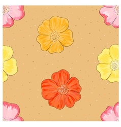 Wild rose seamless vector image vector image