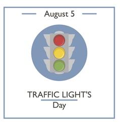 Traffic lights day vector