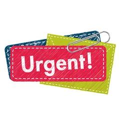 Urgent letter vector image