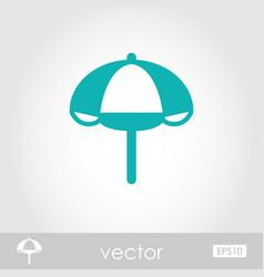 Beach parasol outline icon summer vacation vector