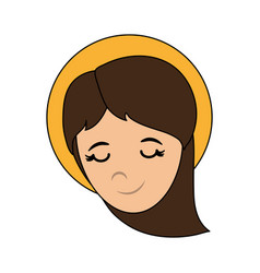 Blessed holy virgin mary icon vector