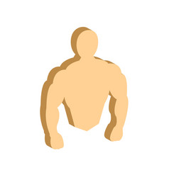 Muscle body bodybuilding fitness symbol flat vector