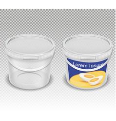 realistic of empty plastic vector image