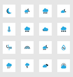 Air colorful icons set collection of rainstorm vector