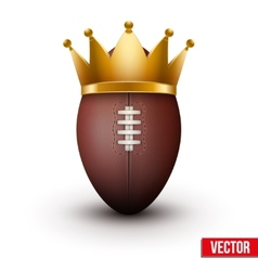 Classic rugby ball with royal crown vector