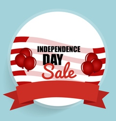 Happy independence day sale coupon voucher tag vector