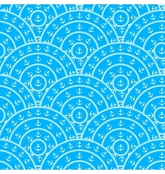 Circle with anchor shape seamless pattern vector