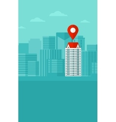 Background of modern city with map pointer vector