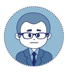 Character financier in suit with tie vector