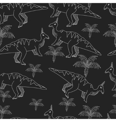 Dinosaur chalk seamless vector image vector image