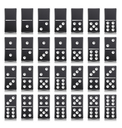 domino full set realistic vector image