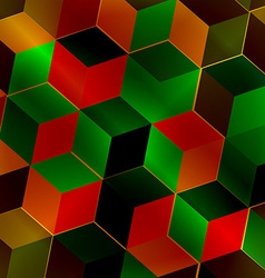 Fractal abstract square vector