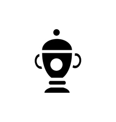 Funeral urn icon in simple style vector