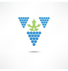 grapevine sign vector image
