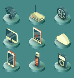 Internet and technology icons vector