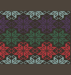knitted geometrical ornament texture knit vector image