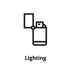 Lighting line icon vector
