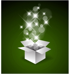 magic gift box vector image vector image