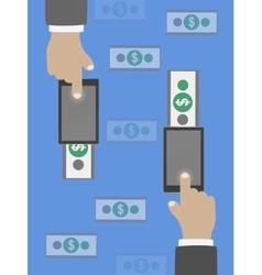 Money transfer in flat design vector