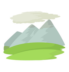 mountain icon cartoon style vector image