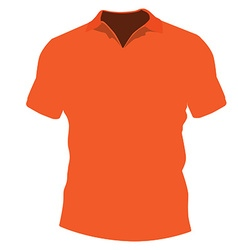 Orange t-shirt vector image vector image