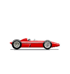 Pixel old race car vector