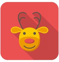 Reindeer icon vector